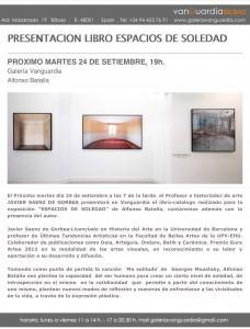 PRESENTACION LIBRO LUGARES DE SOLEDAD